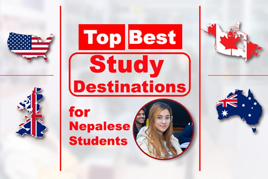 Top Study Abroad Destination for Nepalese students